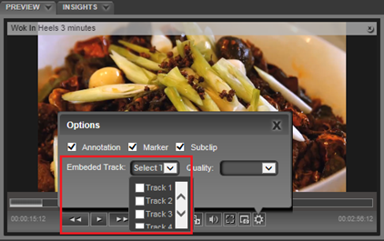What are the various components in the eMAM Preview player?
